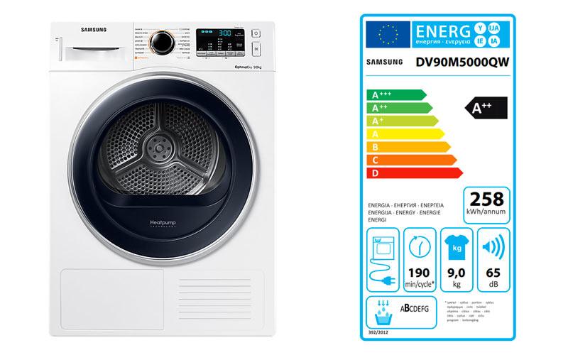 Samsung DV90M5000QW Serie 5000M - Targhetta Energetica